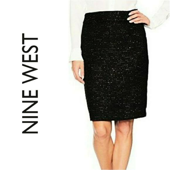 5d98479e2aaa Nine West Sequin Tweed Skirt